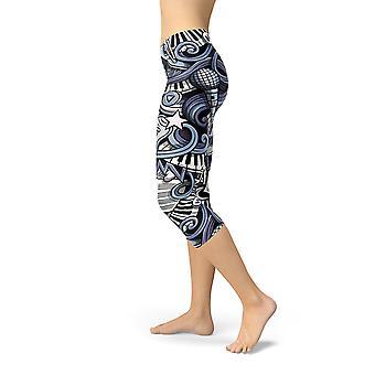 Hosiery womens music capri leggings