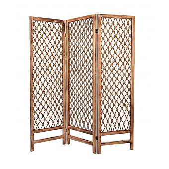 """1"""" x 60"""" x 69"""" Natural Rope Wooden  Screen"""