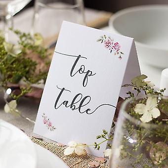 Boho Style Wedding Table Numbers Tentfold Top Table 1 - 16