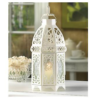 Gallery of Light Lacy Cutout White Candle Lantern - 12 inches, Pack of 1