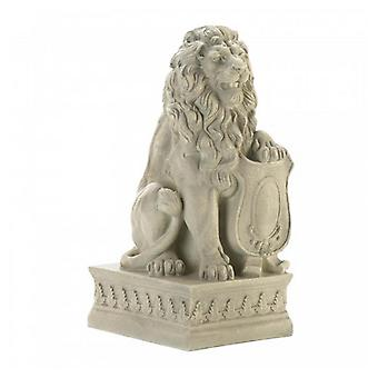 Summerfield Terrace Lion with Shield Garden Statue - Ivory, Pack of 1