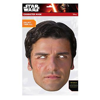Poe Dameron Official Star Wars The Force Awakens Card Party Fancy Dress Mask