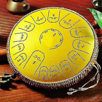 Drum kits steel tongue drum 15 note 14 inches tank drum  percussion handpan drum for yoga meditation