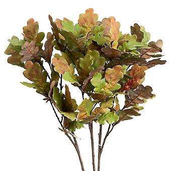 Fresh cut flowers oak leaf artificial plant
