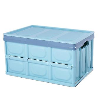 Outdoor chairs 52*29*36cm foldable car trunk storage box backup sundries organizer holder basket blue color
