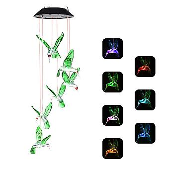 Led Solar Wind Chime Lamp Solar Wind Chime Led Lamp Solar Wind Chimes Lights Solar Wind Chimes Led Color Changing Lamp For Garden, Party, Patio, Porch