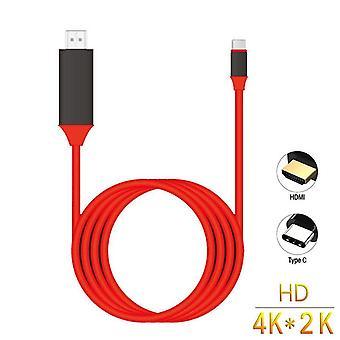 סוג C כדי Hdmi Hdtv Av קו מסך מתאם כבל טלוויזיה עבור Galaxy S10/s10e/s9