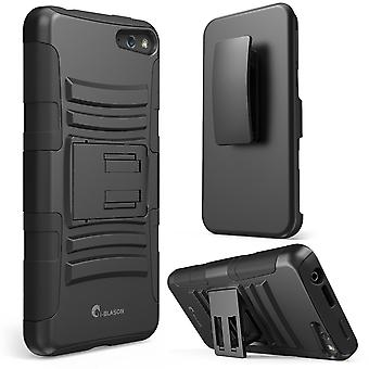 i-Blason Amazon Fire Phone Case - Prime Series Dual Layer Holster Cover - Black