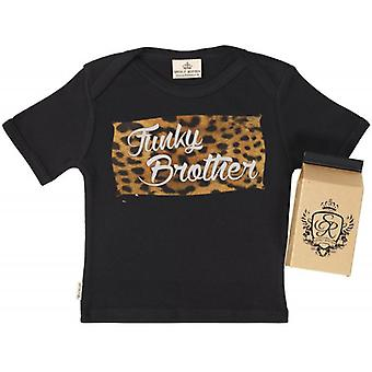 Spoilt Rotten Funky Brother Babys T-Shirt 100% Organic In Milk Carton