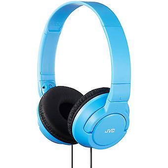 JVC Powerful Bass On-Ear Headphones - Light Blue (Model No. HAS180AN)