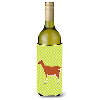 Toggenburger Goat Green Wine Bottle Beverge Insulator Hugger