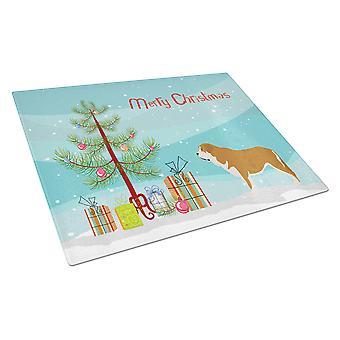 Mastin Epanol Spanish Mastiff Christmas Glass Cutting Board Large