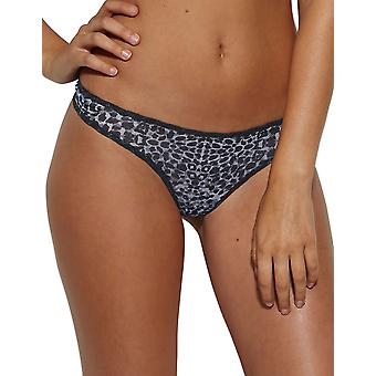 Glossies Leopard Monochrome noir Panty impression Thong Gossard 13106 féminines