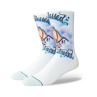 Stance Airbrush gesegnet Crew Socken in blau