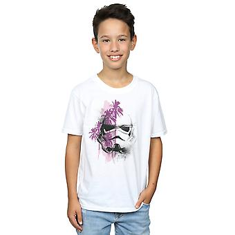 Star Wars Boys Rogue One Stormtrooper Palm Trees T-Shirt