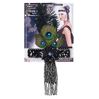 Charleston Flapper 1920s Peacock Feathers Women Costume Headpiece