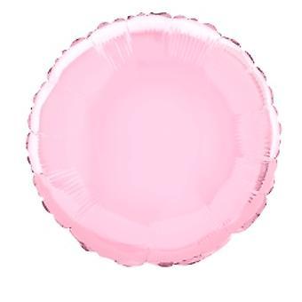 Foliopallo pyöreä vankka metallinen pastelli vaaleanpunainen