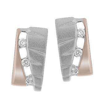 Orphelia srebro 925 kolczyki białe/Rose Zirc ZO-7093