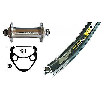 """אופניים-חלקים 28 """"גלגל קדמי Exal XR-1 + שימנו 105 (QR)"""