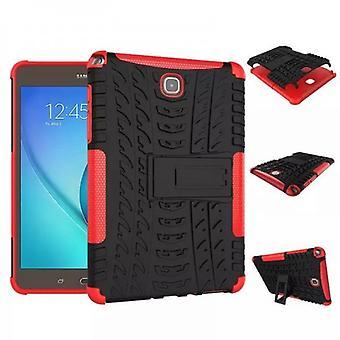 Hybrid Outdoor Schutzhülle Case Rot für Samsung Galaxy Tab A 9.7 T550 T555 Tasche