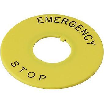 DECA A2AV-27 Rótulo impressão motivo de emergência parar amarelo 1 pc (s)