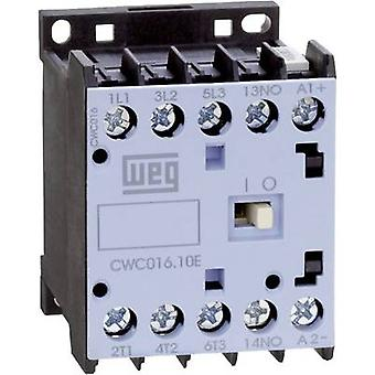 WEG CWC09-10-30D24 Contactor 3 makers 4 kW 230 V AC 9 A + auxiliary contact 1 pc(s)