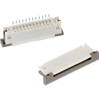 Würth Elektronik-Behälter (Standard) ZIF FPC Gesamtzahl der Stifte 10 Kontakt Abstand: 1 mm 68611014122 1 PC