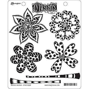 """Dyan Reaveley's Dylusions Cling Stamp Collections 8.5""""X7"""" - Doodle Blooms"""