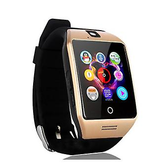 Stuff Certified ® Original Q18 Smartwatch Curved HD Smartphone Fitness Sport Activity Tracker Watch OLED Android iOS iPhone Samsung Huawei Gold