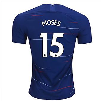 2018-2019 Chelsea Home Nike Football Shirt (Moses 15) - Kids