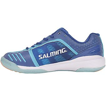 Salming Womens Falco Indoor Sports Training Shoes Trainers - Blue/Turqoise