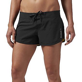 Reebok Womens One Serie Cordura laufen Fitness Training Slim Fit Shorts - schwarz