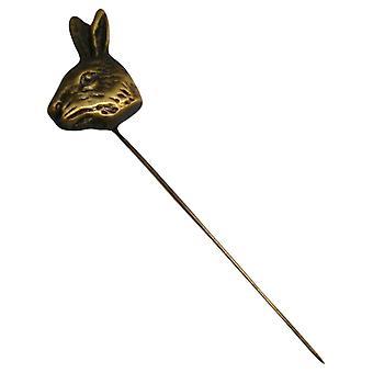 Bassin y Brown Hare Jack prendedor - bronce antiguo
