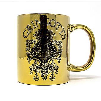 Harry Potter Tasse Gringotts  goldfarben, Metallic-Effekt, aus Keramik, Fassungsverm÷gen ca. 315 ml..