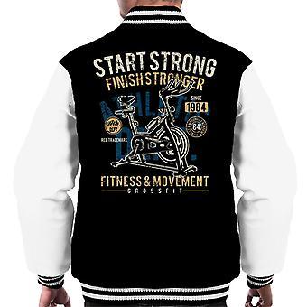 Start Strong Fitness Crossfit Men's Varsity Jacket