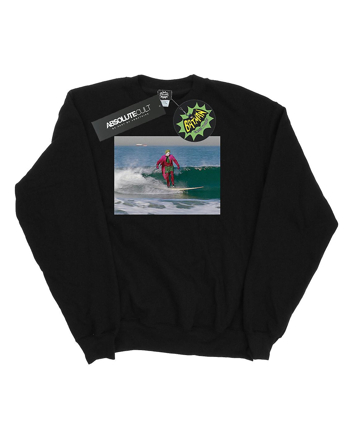 DC Comics Men's Batman TV Series Joker Surfing Sweatshirt
