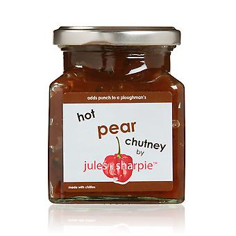 Jules and Sharpie Hot Pear Chutney