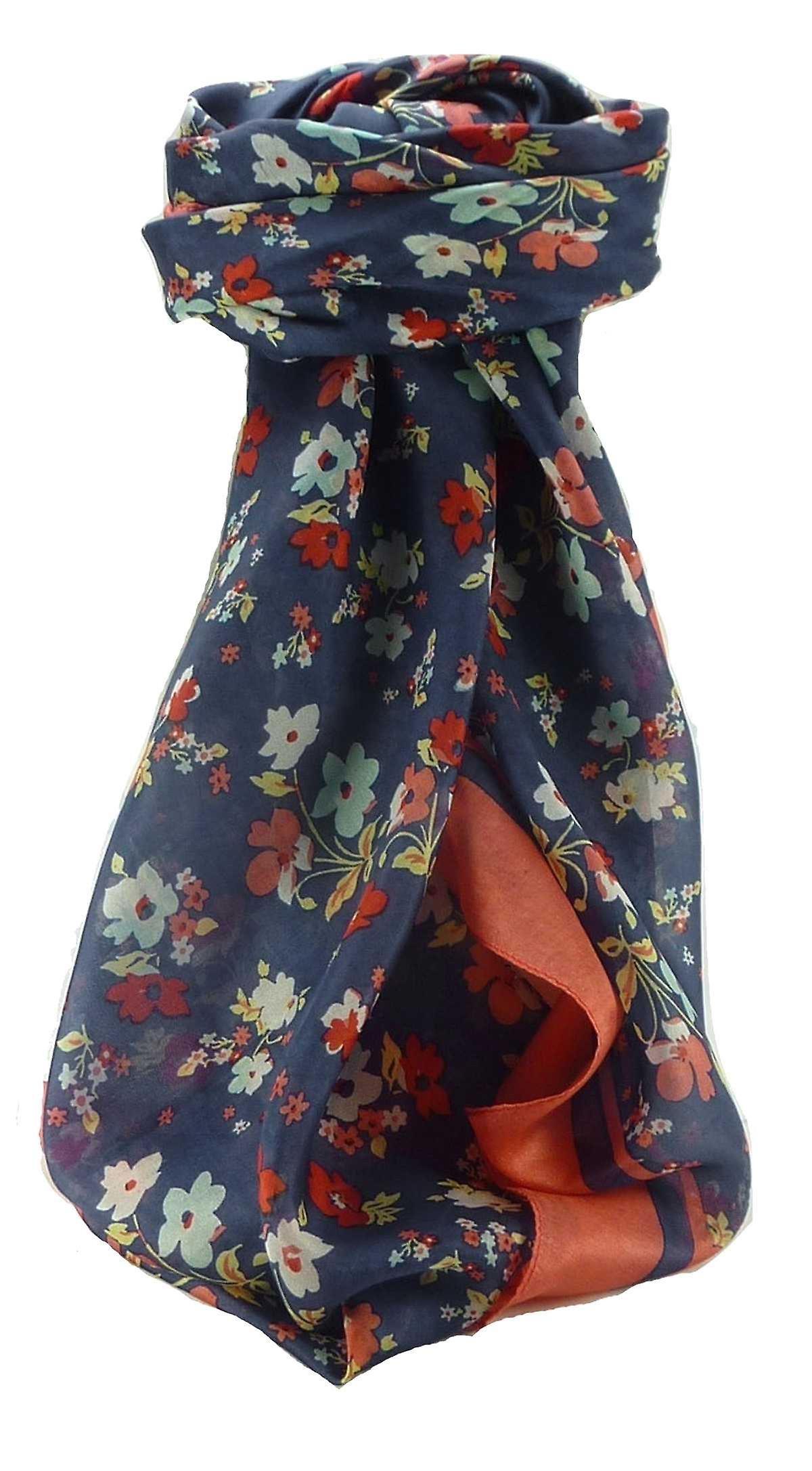 Mulberry Silk Contemporary Square Scarf Floral F209 by Pashmina & Silk