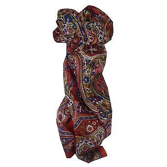 Mulberry soie longue écharpe traditionnelle Sara Red de Pashmina & soie