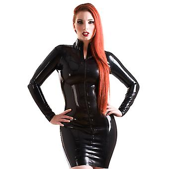 Skin Two Clothing Women's Kinky Mistress Dress Outfit Short Latex Rubber
