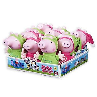 Peppa Pig Glow Friends Plush - 1 Supplied at Random - George or Peppa