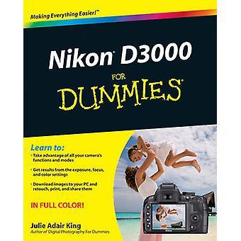 نيكون D3000 لالدمي أدير جولي كينغ-كتاب 9780470578940