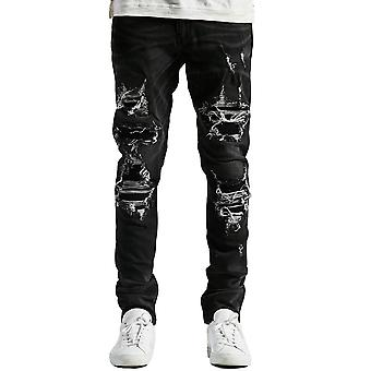 Embellish Luciano Ripped Denim Jeans in Black