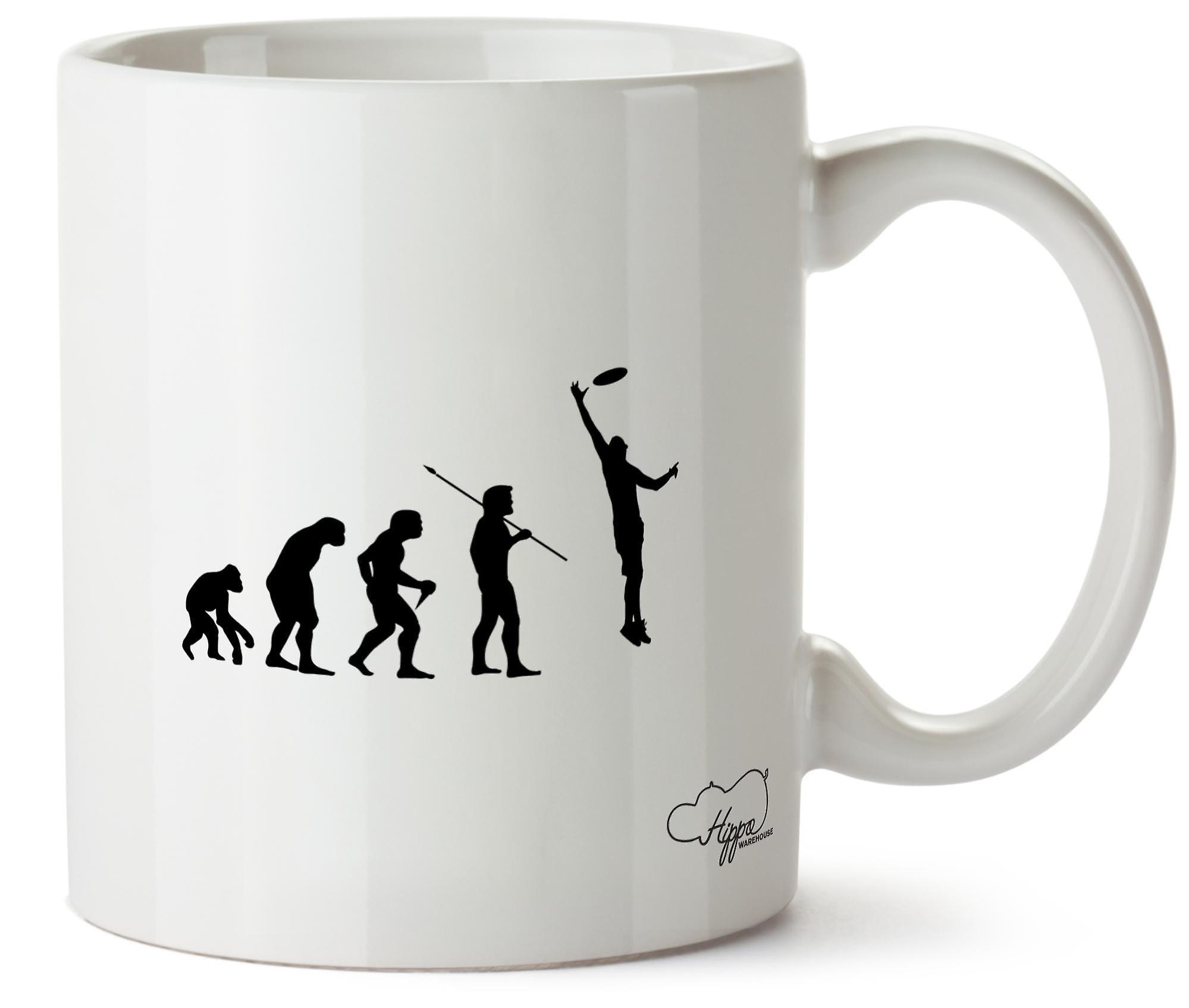Hippowarehouse Frisbee Evolution Printed Mug Cup Ceramic 10oz