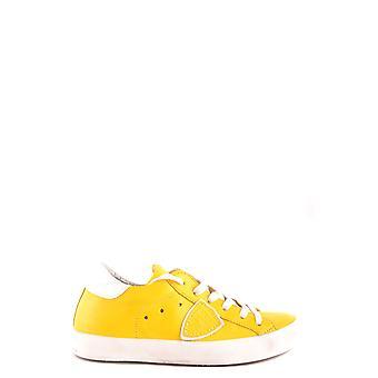 Philippe Modelo Ezbc019024 Mujer's Zapatillas de Cuero Amarillo