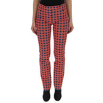 Versace Red Cotton Pants