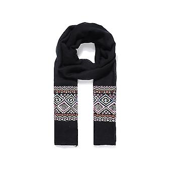 Intrigue Womens/ladies Aztec Border Embroidered Scarf