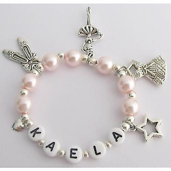 Overweging Gift Ballet armband Blush roze W / meerdere Ballet Charms