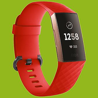 For Fitbit Charge 3 Plastic/Silicone Bracelet for Women/Size S Red Watch