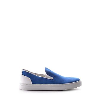 Bepositive Ezbc357001 Men's Blue Suede Slip On Sneakers